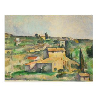 Paul Cezanne - Fields at Bellevue Postcard