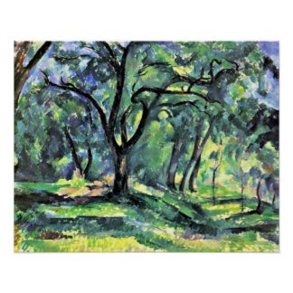 Paul Cezanne - forest Poster