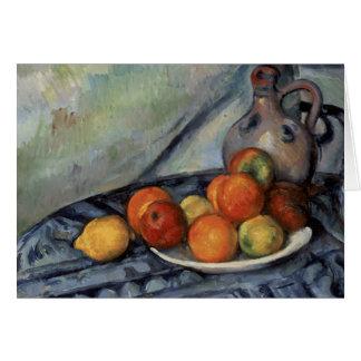 Paul Cezanne - Fruit and a Jug on a Table Card