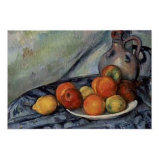 Paul Cezanne - Fruit and a Jug on a Table Poster
