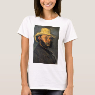 Paul Cezanne Gustave Boyera in a Straw Hat T-Shirt