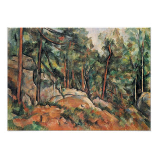 Paul Cezanne - In the woods Poster