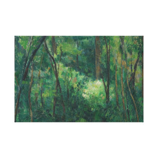 Paul Cezanne - Interior of a Forest Canvas Print