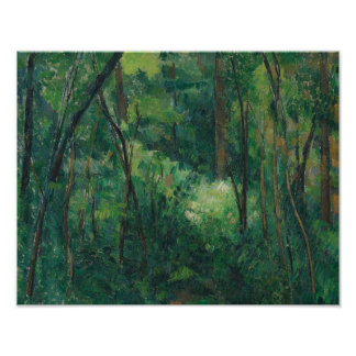 Paul Cezanne - Interior of a Forest Poster