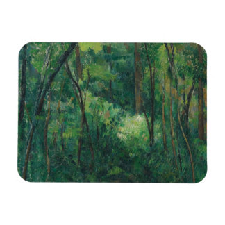 Paul Cezanne - Interior of a Forest Rectangular Photo Magnet