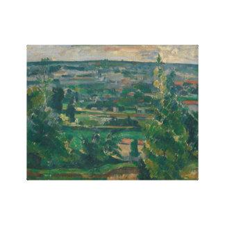 Paul Cezanne - Landscape from Jas de Bouffan Canvas Print