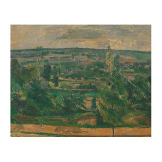 Paul Cezanne - Landscape from Jas de Bouffan Wood Print
