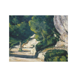 Paul Cezanne - Landscape. Road with Trees in Rocky Canvas Print