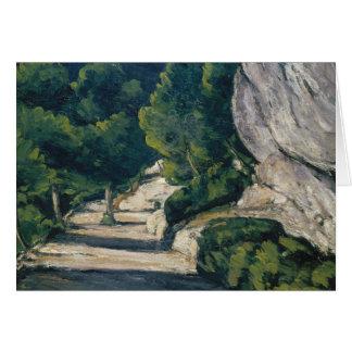 Paul Cezanne - Landscape. Road with Trees in Rocky Card