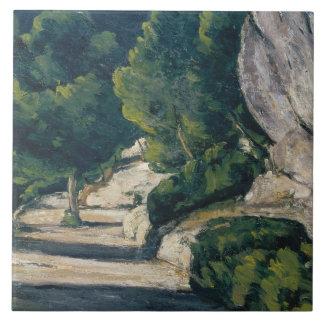 Paul Cezanne - Landscape. Road with Trees in Rocky Tiles