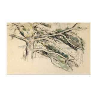 Paul Cezanne Large Pine, Study Canvas Print