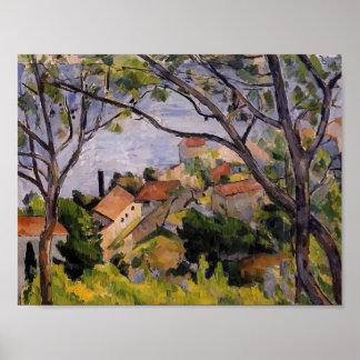 Paul Cezanne- L'Estaque. View through the Trees Poster