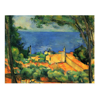 Paul Cezanne- L'Estaque with Red Roofs Postcard