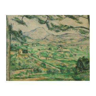 Paul Cezanne - Mont Sainte-Victoire Wood Canvas