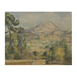 Paul Cezanne - Montagne Saint-Victoire Wood Prints