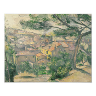 Paul Cezanne - Morning View of L'Estaque Against Photo Print