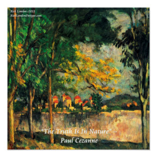 Paul Cezanne Nature Painting & Quote Poster