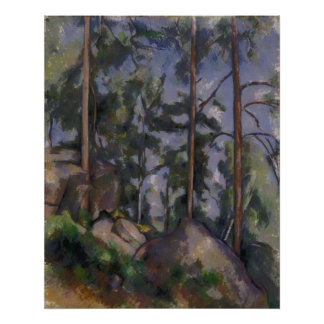 Paul Cézanne - Pines and Rocks Poster