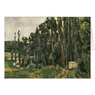 Paul Cezanne - Poplars Card