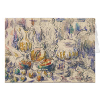 Paul Cezanne - Pot and Soup Tureen Card