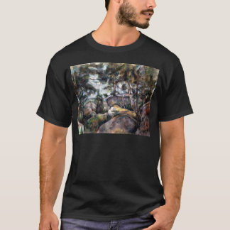 Paul Cezanne Rocks in the Forest T-Shirt
