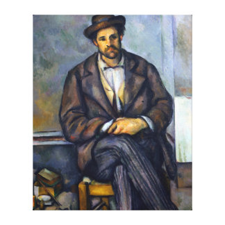Paul Cezanne Seated Peasant Canvas Print