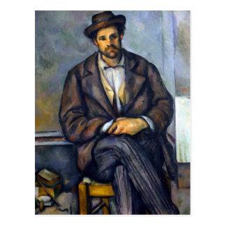 Paul Cezanne Seated Peasant Postcard