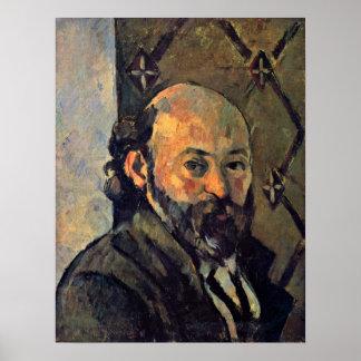Paul Cezanne - Self-portrait from wallpaper Poster