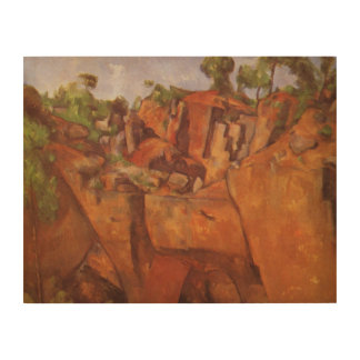 Paul Cezanne  Steinbruch Bibemus Wood Wall Art