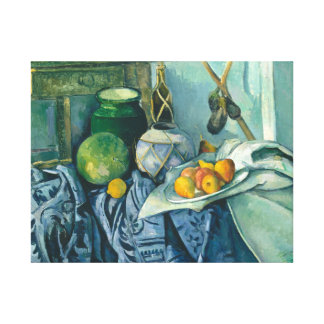 Paul Cezanne Still Life Apples and Primroses Canvas Print