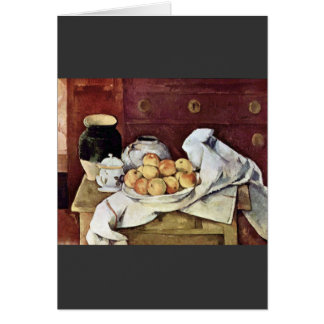 Paul Cezanne - Still Life Card