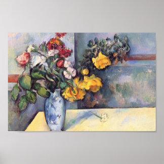 Paul Cezanne- Still Life Flowers in a Vase Poster