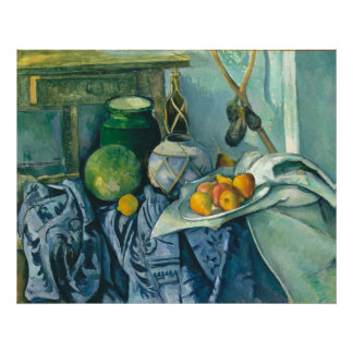 Paul Cezanne Still Life Ginger Jar and Eggplant Poster