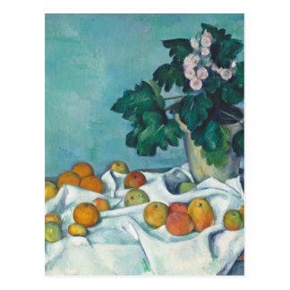 Paul Cézanne Still Life with Apples and Primroses Postcard