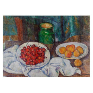 Paul Cezanne Still Life With Cherries And Peaches Cutting Board