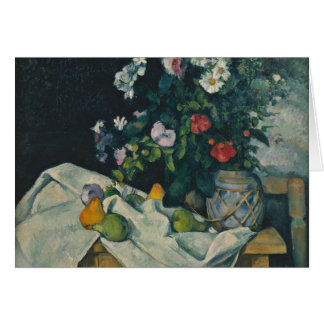 Paul Cezanne - Still Life with Flowers and Fruit Card