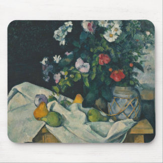 Paul Cezanne - Still Life with Flowers and Fruit Mouse Pad