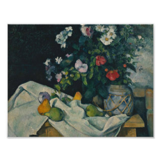 Paul Cezanne - Still Life with Flowers and Fruit Poster