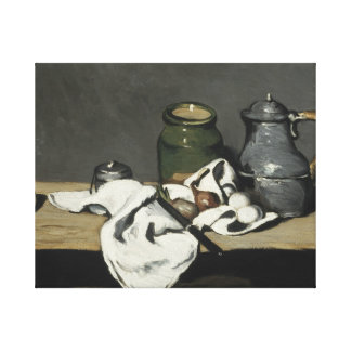 Paul Cezanne - Still Life with Kettle Canvas Print