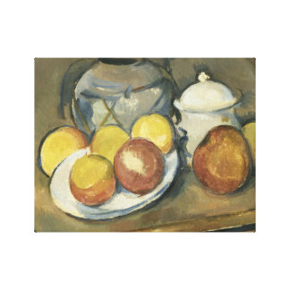 Paul Cezanne - Straw-Trimmed Vase, Sugar Bowl Canvas Print