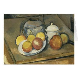 Paul Cezanne - Straw-Trimmed Vase, Sugar Bowl Card