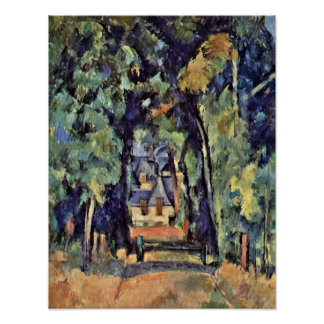 Paul Cezanne - Street in Chantilly Poster