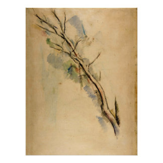 Paul Cezanne Studies of a Tree Poster