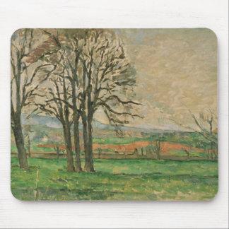 Paul Cezanne - The Bare Trees at Jas de Bouffan Mouse Pad