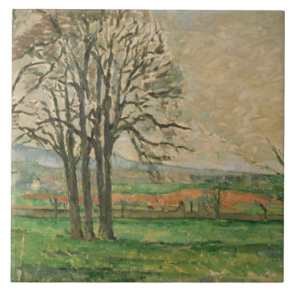 Paul Cezanne - The Bare Trees at Jas de Bouffan Tile