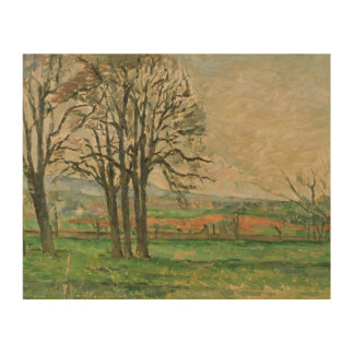 Paul Cezanne - The Bare Trees at Jas de Bouffan Wood Print