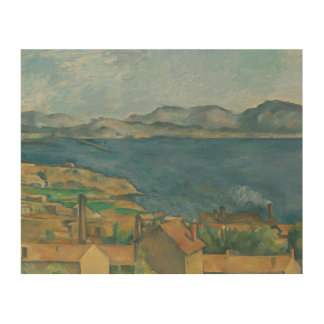 Paul Cezanne - The Bay of Marseilles Wood Prints