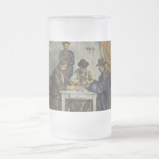 Paul Cézanne - The Card Players 16 Oz Frosted Glass Beer Mug