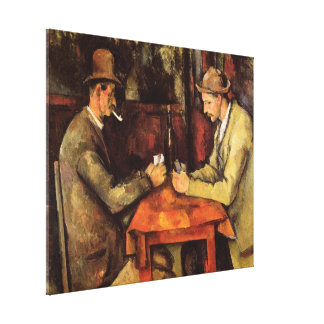 PAUL CEZANNE - The card players 1894 Canvas Print