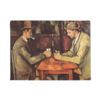 PAUL CEZANNE - The card players 1894 Doormat